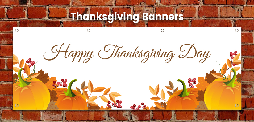 Thanksgiving Holiday Banners
