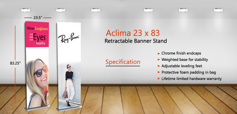 Aclima 23x83 Retractable Banner Stand