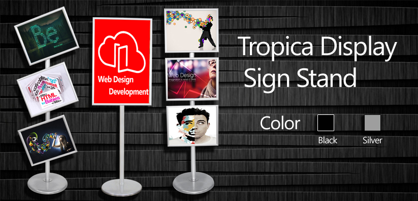 Tropica Display Sign Stand