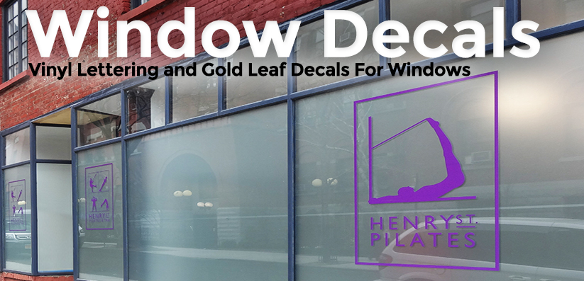 Window Decals & Gold Leaf Lettering